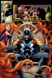 FF No.5: Panels with Black Bolt and Medusa Posters by Barry Kitson