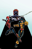 Spider-Girl No.92 Cover: Spider-Girl, Shadowcat and Magneto Posters by Ron Frenz