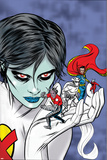 X-Statix Presents: Dead Girl No.2 Cover: Dr. Strange, Dead Girl and Phantom Rider Fighting Poster by Nick Dragotta