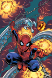 Friendly Neighbourhood Spider-Man No.1 Cover: Spider-Man Charging Posters by Mike Wieringo