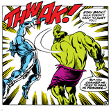 Marvel Comics Retro: The Incredible Hulk Comic Panel, Fighting, Thwak! Poster