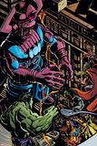 Powerless No.1 Group: Galactus, Hulk, Silver Surfer and Thor Photographie par Michael Gaydos
