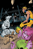 Exiles No.58 Cover: Mimic, Sasquatch, Blink and Exiles Prints by Mizuki Sakakibara