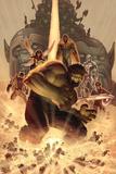 What if Wolrd War Hulk No.1 Cover: Hulk, Giant Man, Wasp, Vision and Silver Surfer Posters by John Romita Jr.