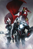 Secret Invasion No.6 Cover: Captain America, Thor and Iron Man Póster