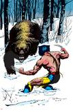 John Bolton - Classic X-Men No.25 Cover: Wolverine Swinging Plakát