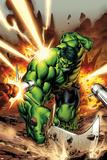 Incredible Hulks No.615 Cover: Hulk Smashing Plakater af Carlo Pagulayan
