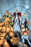 Alpha Flight No.6 Cover: Sasquatch, Major Mapleleaf and Alpha Flight Prints by Clayton Henry