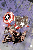 Wolverine Captain America No.4 Cover: Wolverine and Captain America Print by Tom Derenick