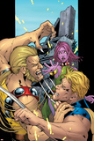 Exiles No.59 Cover: Sabretooth, Mimic and Blink Prints by Mizuki Sakakibara