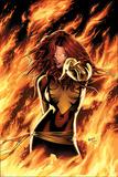 Greg Land - X-Men: Phoenix - Endsong No.1 Cover: Phoenix, Grey and Jean - Afiş