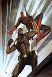 The Amazing Spider-Man No.609 Cover: Spider-Man and Damon Ryder Poster by Adi Granov