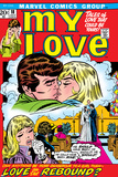 Marvel Comics Retro: My Love Comic Book Cover No.18, Kissing, Love on the Rebound Kunstdruck
