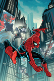 Timestorm 2009/2099: Spider-Man One-Shot No.1 Cover: Spider-Man Fighting Prints by Paul Renaud