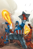 The New Invaders No.2 Cover: Captain America Posters by Scott Kolins