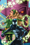 Spider-Man & The Secret Wars No.3 Cover: Spider-Man, Enchantress and Galactus Posters by Patrick Scherberger