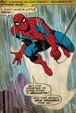 Retro Marvel-serier: serieruta från den fantastiske Spindelmannen (åldrad) Affischer