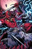 Thor No.8 Group: Odin, Surtur and Thor Print by Marko Djurdjevic