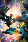 Nova No.31 Cover: Darkhawk and Nova Poster by Brandon Peterson