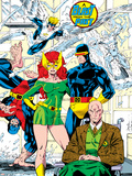 X-Men No.1 Pin-up Group: Blast From The Past, Original X-Men Prints by Jim Lee