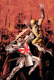 Wolverine Origins No.43 Cover: Wolverine and Silver Samurai Print by Doug Braithwaite