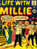 Marvel Comics Retro: Life with Millie Comic Book Cover No.13, Bathing Suit, Beach Club Dance Print