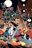 Power Pack: Day One No.4 Cover: Zero-G, Mass Master, Lightspeed and Energizer Posters by  Gurihiru