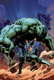 Incredible Hulks No.616 Cover: Hiro-Kala and Hulk Fighting Photo by Carlo Pagulayan