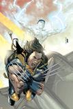 X-Men No.168 Cover: Wolverine and Iceman Photo by Salvador Larroca