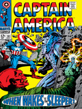 Marvel Comics Retro: Captain America Comic Book Cover No.101, Red Skull, When Wakes the Sleeper Prints