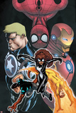 Avengers Academy Giant-Size No.1 Cover: Spider-Girl, Firestar, Reptil, Iron Man and Others Prints by Ed McGuinness