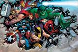 Son of Marvel Reading Chronology Cover: Thor Plakater af John Romita Jr.