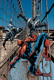 Mike Deodato - Amazing Spider-Man No.512 Cover: Spider-Man and Stacy Twins Fighting and Flying Plakát