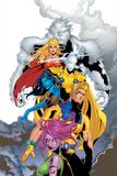 ExilesNo.44 Cover: Sasquatch, Magik, Morph, Nocturne, Mimic, Blink and Exiles Print by Mizuki Sakakibara
