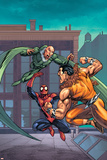 Marvel Adventures Spider-Man No.7 Cover: Spider-Man, Kraven The Hunter and Vulture Poster by Tony Daniel