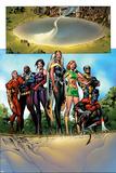 Uncanny X-Men No.447 Group: Marvel Girl, Storm, Nightcrawler, Wolverine, Bishop, Sage and X-Men Poster by Alan Davis