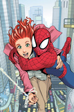 Spider-Man Loves Mary Jane No.1 Cover: Spider-Man, and Mary Jane Watson Prints by Takeshi Miyazawa