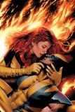 X-Men: Phoenix - End Song No.3 Cover: Phoenix and Wolverine Billeder af Greg Land