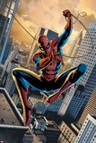 FF No.1: Spider-Man Swinging Between Buildings with his Web Posters by Steve Epting