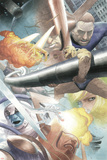 Silver Surfer: Requiem No.1 Group: Silver Surfer, Galactus, Mr. Fantastic, Thing and Human Torch Print