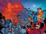Sean Chen - X-Men: The End No.4 Group: Titan and Cyclops Fighting Obrazy