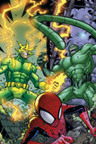 Marvel Adventures Spider-Man No.48 Group: Spider-Man, Electro and Scorpion Poster by Jonboy Meyers