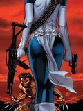 Wolverine No.64 Cover: Wolverine and Mystique Posters af Ron Garney