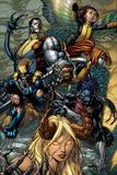 X-Infernus No.2 Cover: Darkchylde, Colossus, Wolverine, Nightcrawler, Pixie and Mercury Posters by David Finch