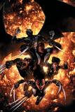 X-Force No.12 Cover: X-23, Wolverine, Domino, Warpath and Archangel Prints by Clayton Crain