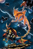 Stormbreaker: The Saga Of Beta Ray Bill No.3 Cover: Stardust and Beta-Ray Bill Flying Posters by Andrea Di Vito