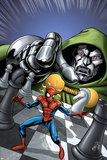 Marvel Adventures Spider-Man No.9 Cover: Spider-Man and Dr. Doom Prints by Mike Norton