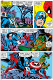 Captain America And The Falcon Group: Captain America, Falcon and Spider-Man Bilder av John Romita Sr.