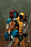 Wolverine No.62 Cover: Wolverine and Mystique Posters af Ron Garney