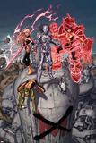 Nation X No.3 Cover: Magik, Danger, Armor and Anole Prints by Dustin Weaver